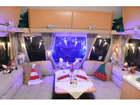 4 Berth Abbey (Swift) Aventura 317 Touring Caravan with Motor Mover & Fixed Bed