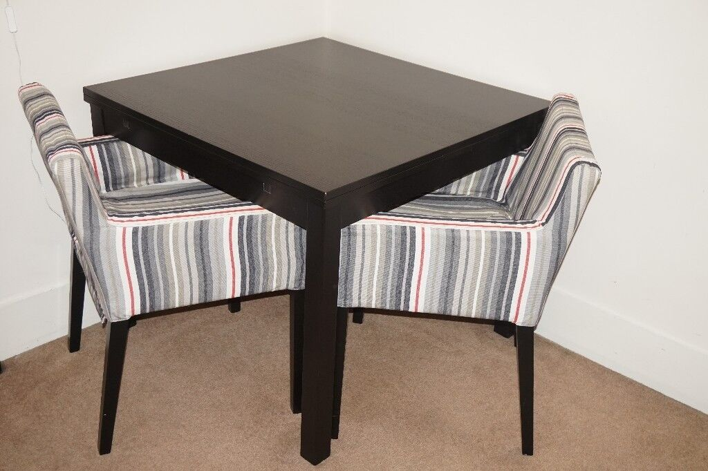 Black Ikea Dining Table With 2 Pull Out Leaves Included In Chelsea