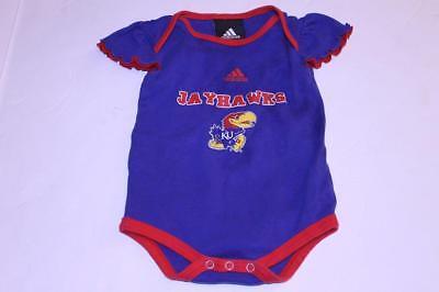 Infant/Baby Girls Kansas Jayhawks 3/6 Months Creeper One-Piece (Royal Blue) Adid ()