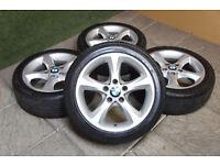 """Genuine BMW 1 Series 17"""" Sport Alloy wheels & Tyres 3 Series E81 E82 E88 E87 E46 E36"""