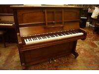 Overstrung upright piano, by Steck, tuned and Uk delivery available