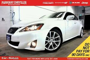 2011 Lexus IS 250 AWD| H&R SPRINGS| NAV| LEATHER| SUNROOF| REAR