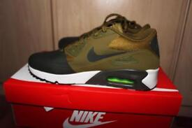 brand new Authentic Air Max 90 trainers by Nike in green