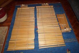 Wooden Venetian Blinds X 3 ~ Pine Colour ~ 50cm Wide X 270cm With Brackets