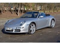 PORSCHE, 911 CARRERA 2, 3.6 997 Carrera Cabriolet 2dr Petrol Automatic (325 bhp) TIPTRONIC S