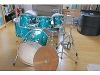 Mapex Horizon Kit + Yamaha Stage Custom Snare, Cymbals, Hardware + extras.
