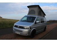 VW T5 Campervan, low mileage, Aircon, Reimo Pop Top bed, Rocknroll seats, Parking Camera, Towbar