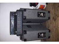 Karaoke equipment And 200 watt PA Amp plus 2 speakers and 2 mics