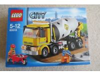 LEGO 60018 City Cement Mixer Truck, Age 5-12, 100% Complete with Box and Manual
