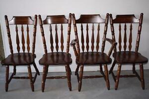 Chocolate Hardwood Country Chairs