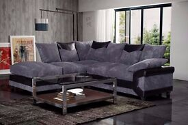 BRAND NEW DINO SOFA OFFER - 3 AND 2 SEATER SOFA AND FABRIC CORNER SOFA AVAILABLE IN BLACK AND GREY