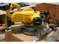DeWalt DW777 216mm Sliding Crosscut Mitre Saw CHOICE OF 110V or 240V