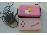 Nintendo DS Lite Console Pink WITH CHARGER & Lisa Simpsons Case