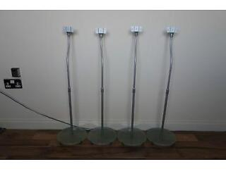 Surround sound glass based speaker stands x 4 (vgc)