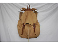 Whillas & Gunn leather and canvas rucksack