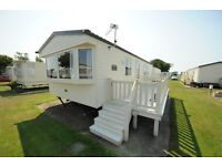 2 bedroom caravan with decking
