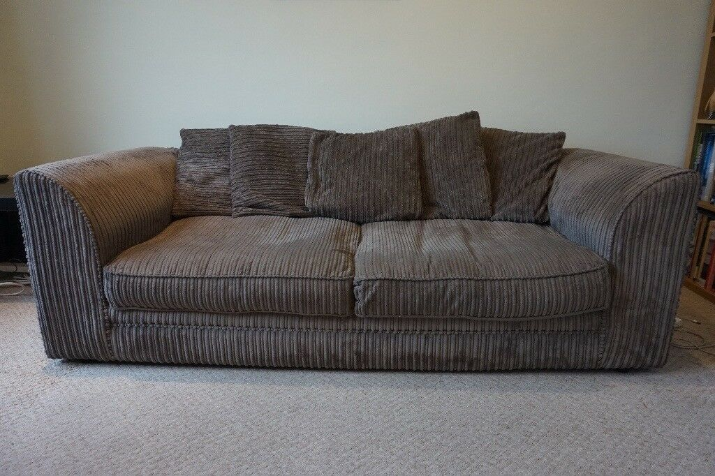 Fawn Colour Comfy Fabric Sofa