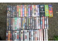 JOB LOT OF VHS VIDEO'S. PLUS 2 BOX SETS.