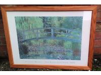 Large Framed Monet Print WATER LILY-POND