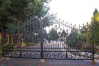 WROUGHT IRON HAND MADE DRIVEWAY SWING GATE  MADE TO MEASURE