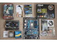Asus P8Z68-V Motherboard, Intel i5 2500k Processor, 16GB Corsair RAM, Sapphire Radeon 6850 graphics