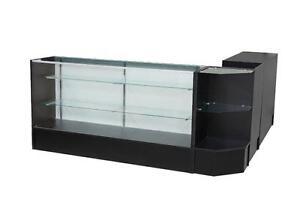 Showcase/ jewelry case/ dispensary case/ glass case/ cash desk/ counter/ reception desk/display case