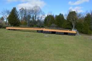 8 x 16 cedar floating dock with a 4 x 16 ramp and 9 dock floats Kingston Kingston Area image 7