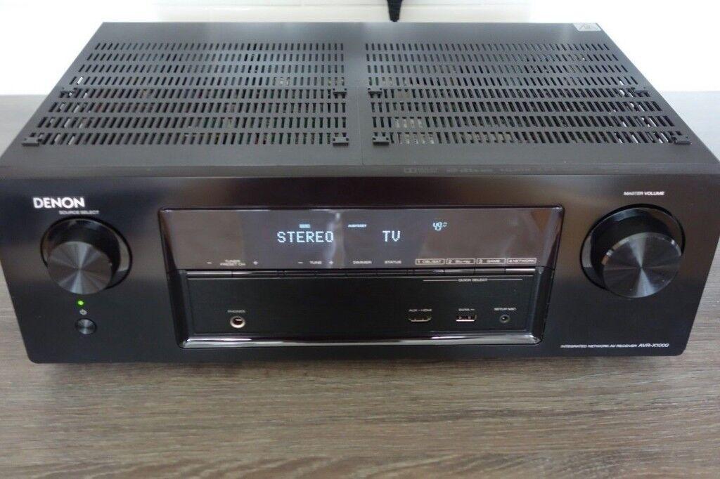 Denon AVR-X1000 5 1 Surround Home Cinema Receiver, 5xHDMI, 145W/Ch, Black |  in New Milton, Hampshire | Gumtree