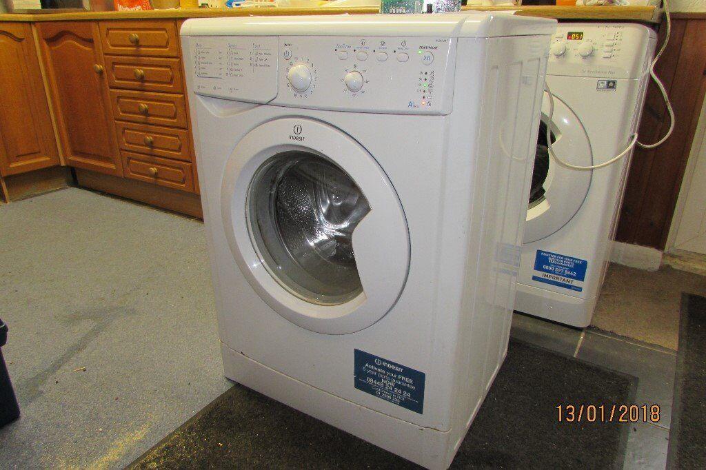 washing machine indesit iwb5123uk automatic 1200 spin 6kg drum