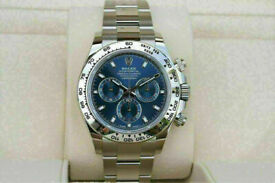 Rolex Cosmograph Daytona Blue Dial Stainless Steel