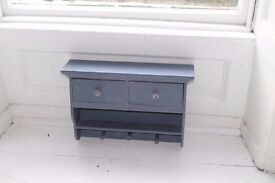 Small Wooden Hand-Painted Cabinet Unit