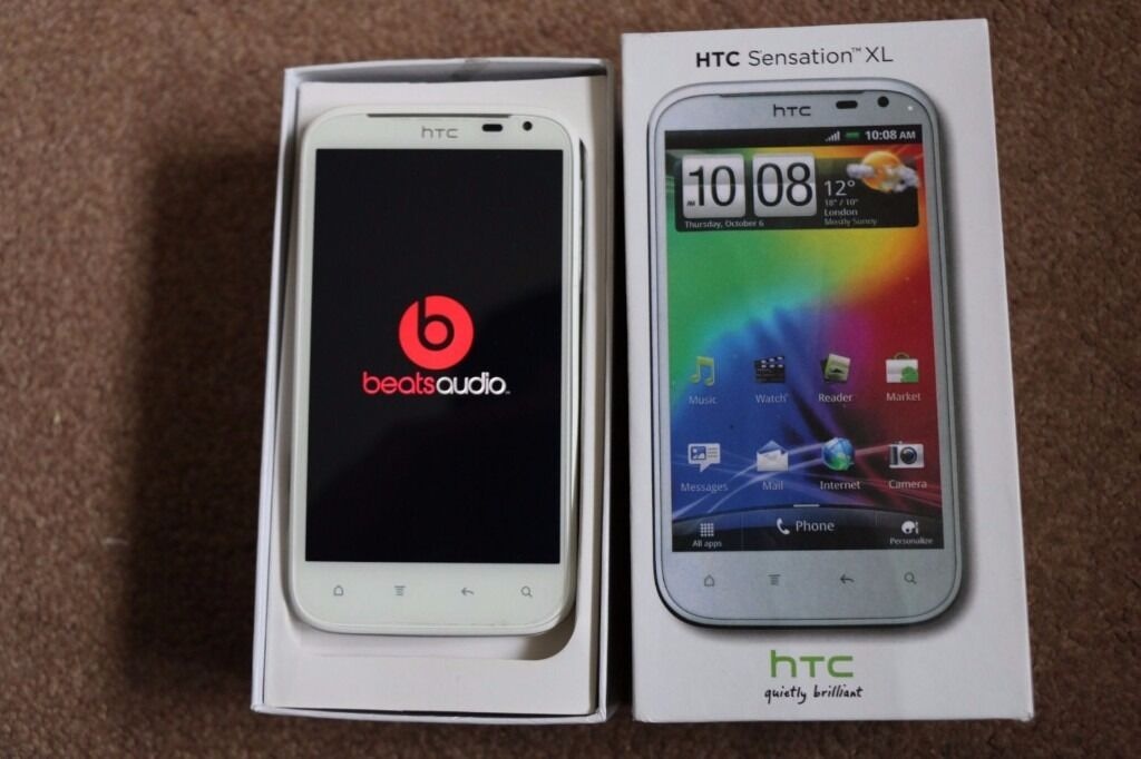 HTC Sensation XLWhite (Unlocked) DreBeats Audio SmartphoneFREE ACCESSORIES L@@Kin Newham, LondonGumtree - HTC Sensation XL White 8GB Unlocked to all networks Android Smartphone Very Good Condition with minor sign of usage. Quick smartphone with top quality Beats audio. Complete with 13 screen protection Oryginal Box USB charging/data lead. Headphones....