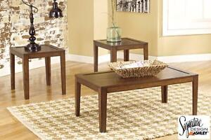 "PRICE REDUCED! Brand NEW ""Hollytyne"" 3-Piece Table set! Call 709-726-6466!"