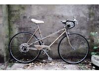 RALEIGH MISTY, vintage ladies women's racer racing mixte frame road bike, 21 inch, 5 speed