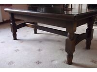 Large wood coffee side table