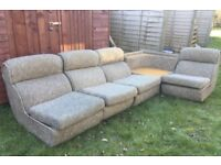 Retro sofa set / retro chairs / Can deliver / In perfect condition
