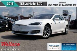 2016 Tesla 70 MODEL S/1-OWNR/310HP/RWD/17 SCRN/PRK ASST