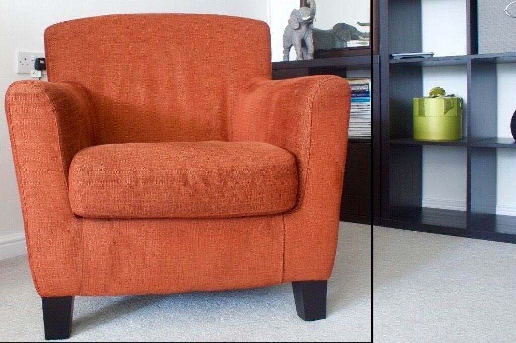 Ikea Arm Chair, Style EKENAS In Rust Colour, Bargain £60 (cost £