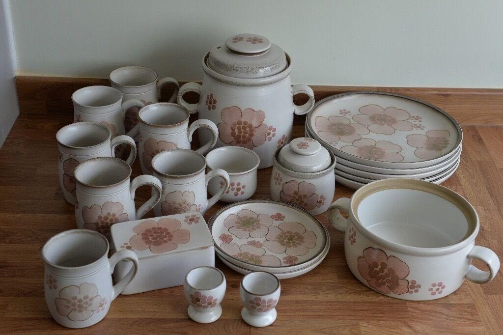 Lot of Denby Gypsy crockery-mugs dinner u0026 tea plates cooking pot & Lot of Denby Gypsy crockery-mugs dinner u0026 tea plates cooking pot ...