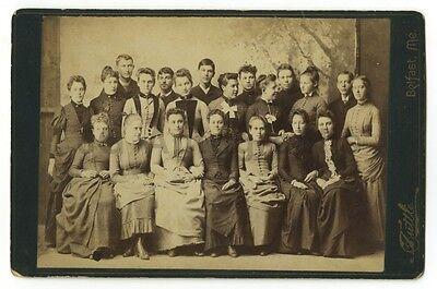 19th Century Fashion - Original 19th Century Cabinet Card Photo - Belfast, Maine