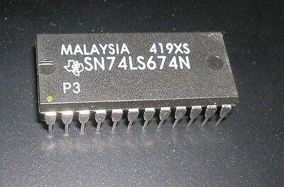 Sn74ls674n 74ls674 Sn74ls674 16-bit Shift Register New Old Stock Rare Dip Ic Ti