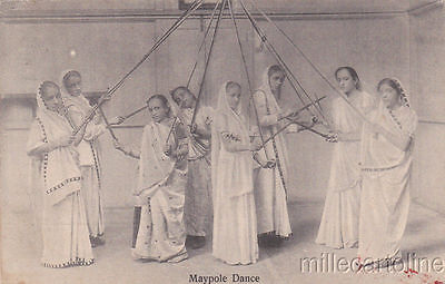 * INDIA - Costumes - Maypole Dance 1918