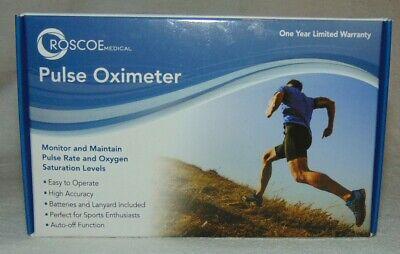 Roscoe Medical Fingertip Pulse Oximeter Nib Great For Sports Fitness Free Ship