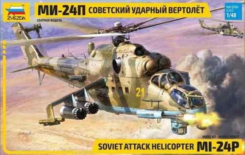 4812 Soviet Attack Helicopter Mi-24P Zvezda 1/48   NEW