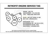 1993 1994 FORD F250 F350 F450 F550 ECONOLINE 7.5L 460 BELT ROUTING DECAL NEW