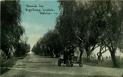 Used, Postcard Road & Car, to Spring Lake, Michigan - C U Williams Photoette for sale  Saint Joseph