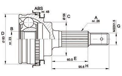 OPEN PARTS Juego de articulación árbol transmisión Lado rueda CVJ5337.10