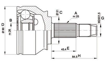 OPEN PARTS Juego de articulación árbol transmisión Para FIAT STILO CVJ5374.10