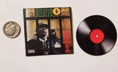 Miniature 1/6 record album  Rap Rapper  Hip Hop action figure Public Enemy B