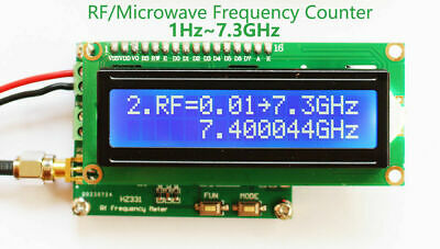 1hz To 7.3ghz Microwave Frequency Counter Radio Rf Frequency Meter Counter